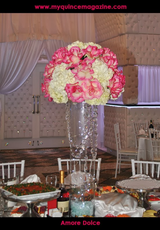Quinceanera centerpieces flowers