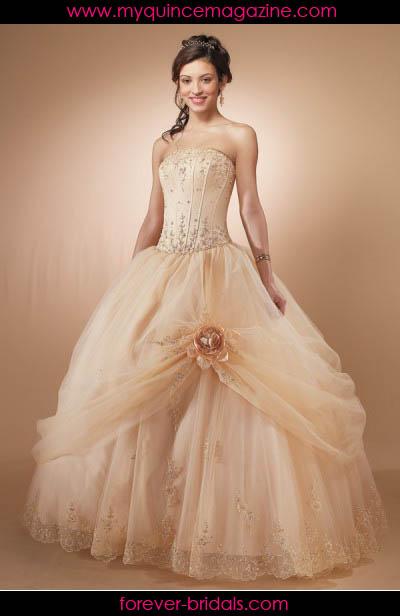 Peach Color Quince Dresses
