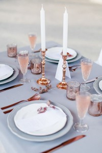 Quartz-rose-table-setting